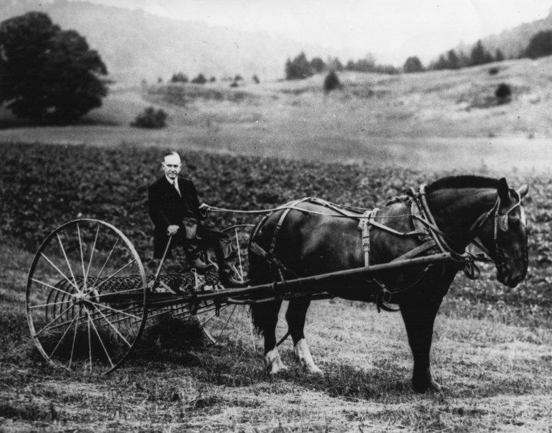 Calvin Coolidge Vermont farm 1930s