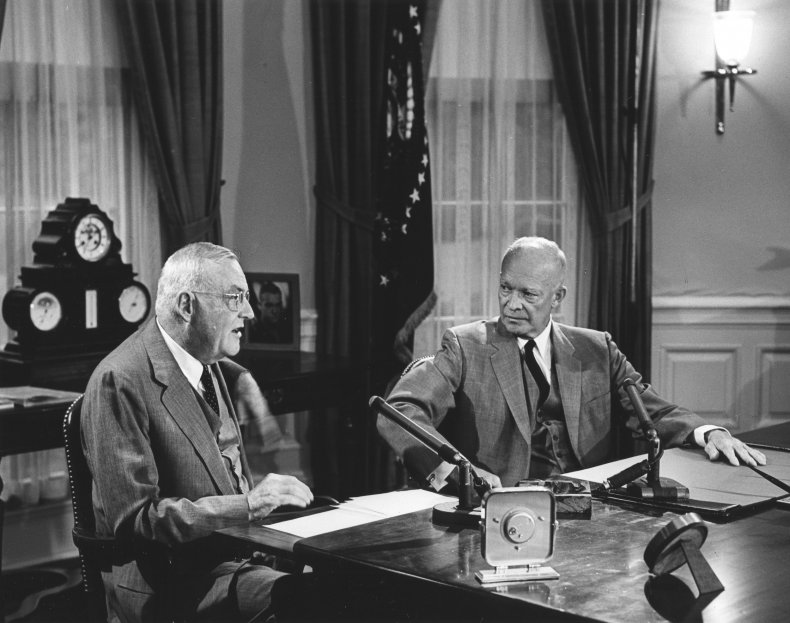 Dwight D. Eisenhower Oval Office White House