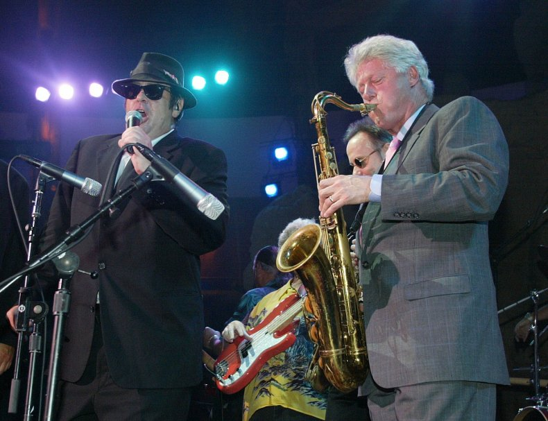 Bill Clinton Blues Brothers saxophone solo 2002
