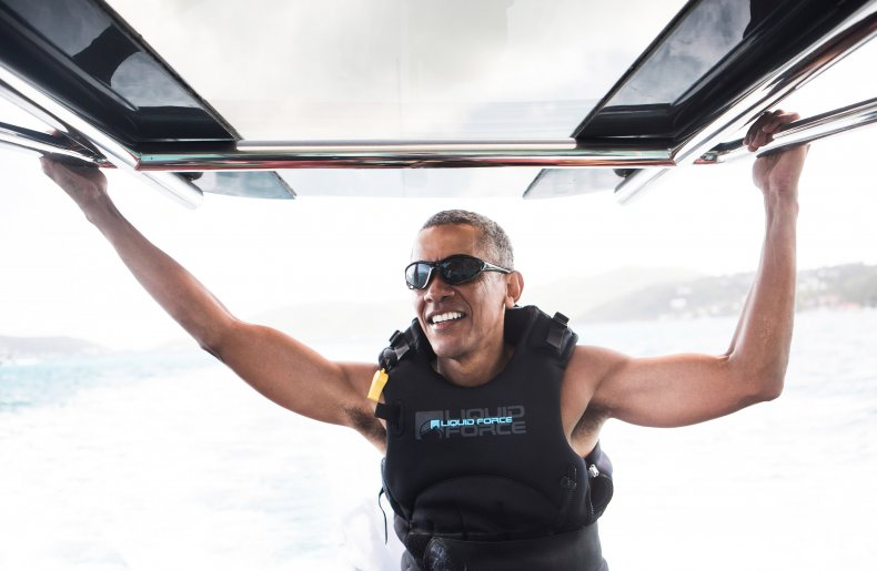 Barack Obama February 2017 Necker Island