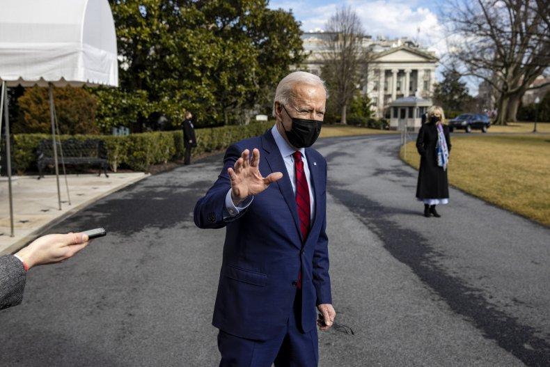 Joe Biden on White House South Lawn