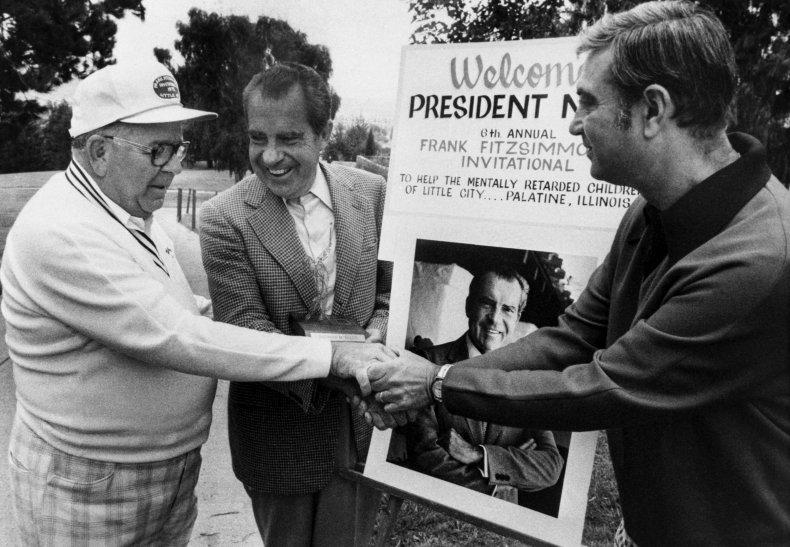 Richard Nixon golf tournament 1975