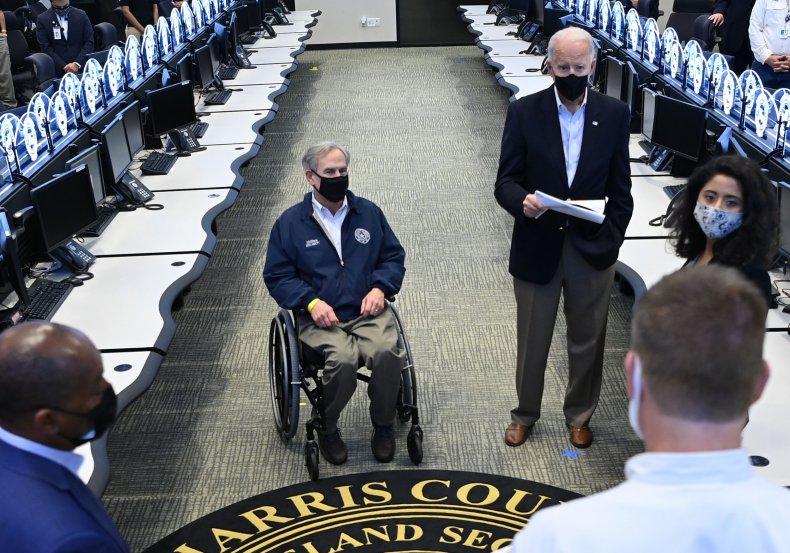 Greg Abbott and Joe Biden in Texas