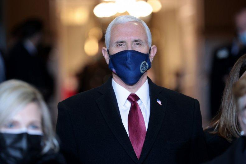Mike Pence at Joe Biden's inauguration 2021