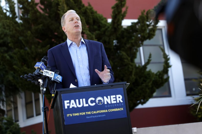 Kevin Faulconer challenging Gavin Newsom in California