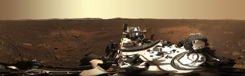 Mars panorama taken by Mars Perseverance rover