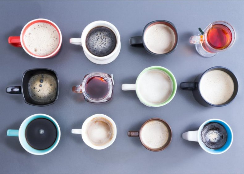 How much caffeine is in 10 types of drinks