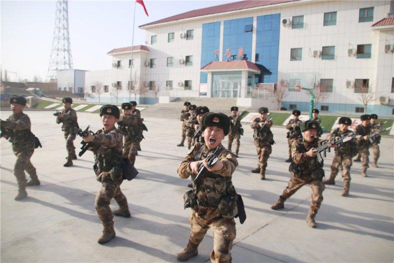 china, peoples, liberation, army, xinjiang