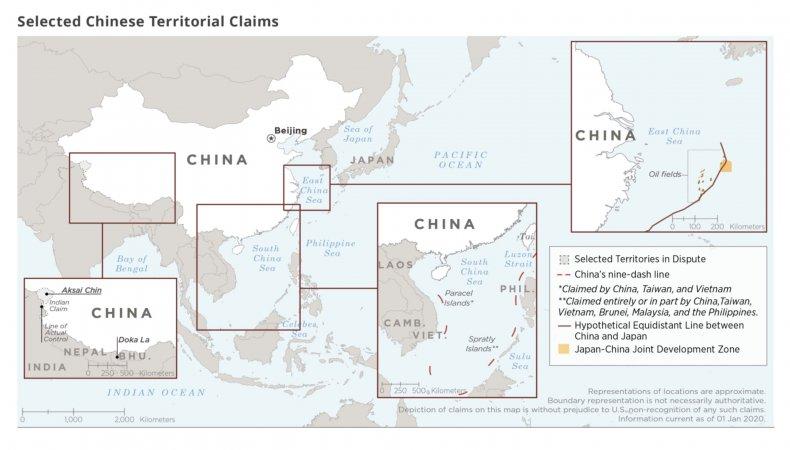china, dispute, map, borders