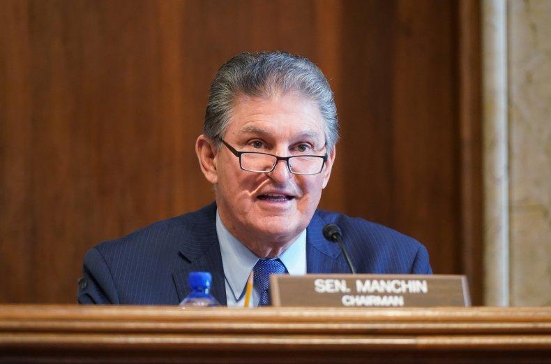 Joe Manchin in Senate chamber