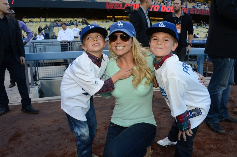 Britney Spears and sons