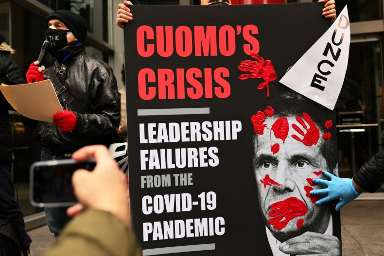 A Protest Outside Governor Andrew Cuomo's Office