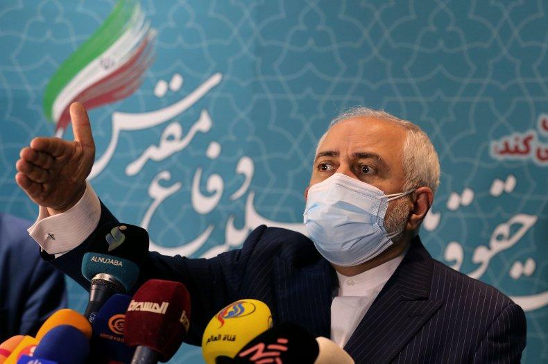 Javad Zarif speaks in Tehran Iran