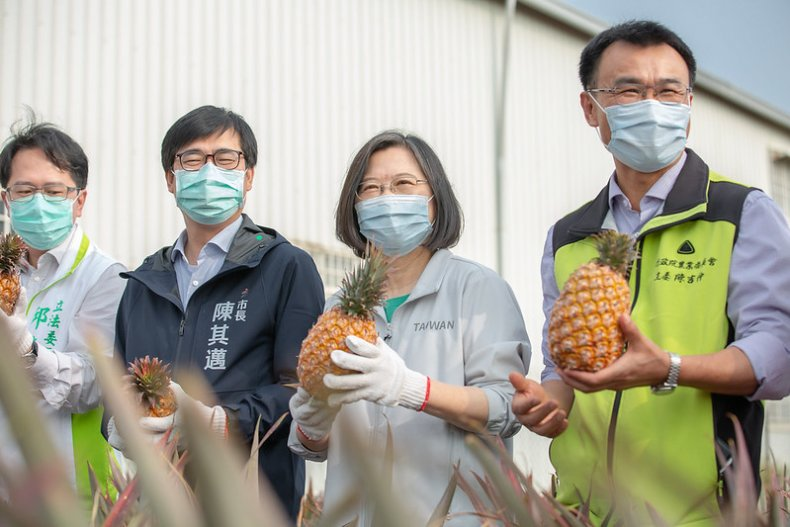 Taiwan President Promotes Island's Pineapple Industry