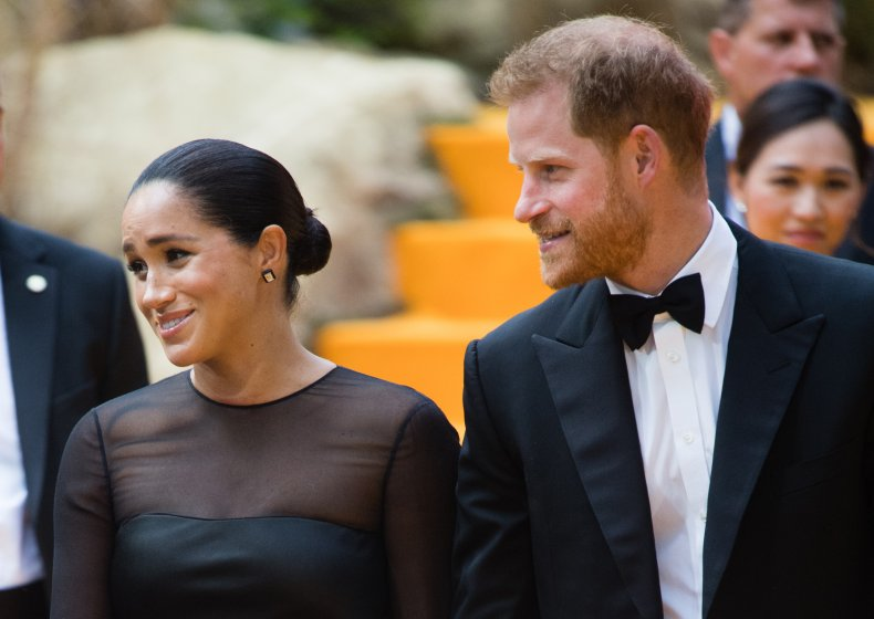Meghan Markle, Prince Harry at Lion King