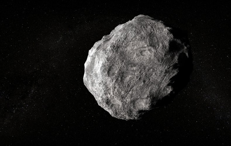 Asteroid in space