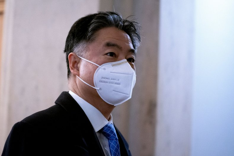 ted lieu arriving at the capitol