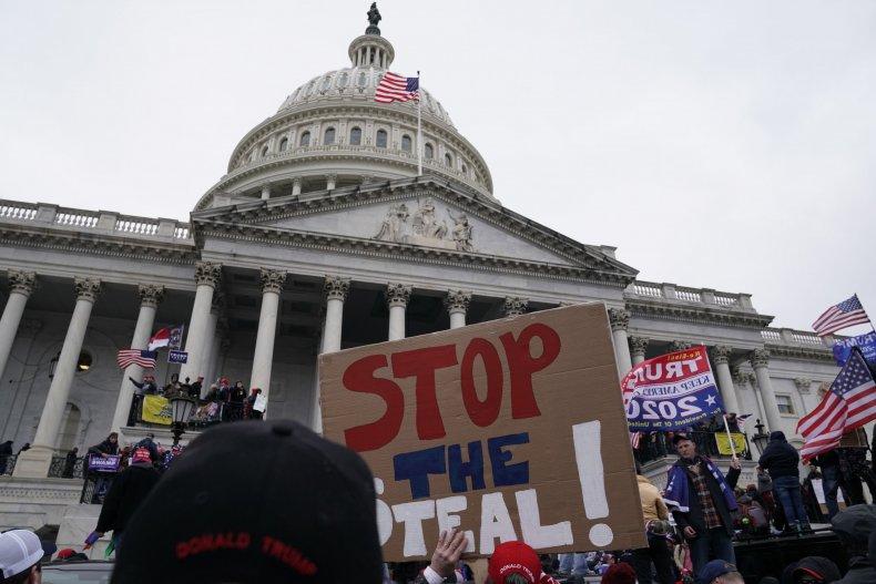 Crowds swarm the Capitol building