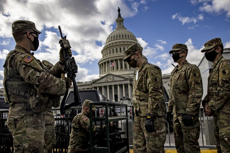 National Guard soldiers near US Capitol