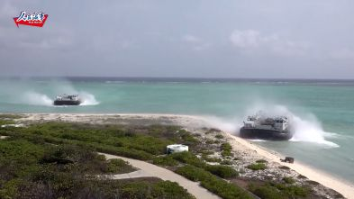 Chinese Navy Hovercrafts Join Landing Drill