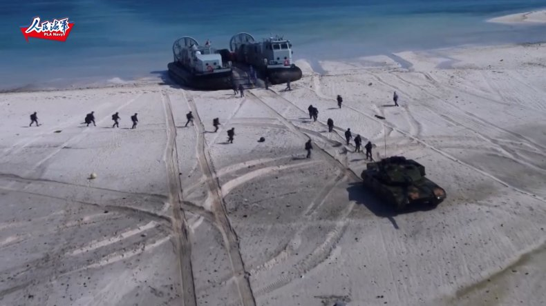 Chinese Military Storms Beach In Landing Drill