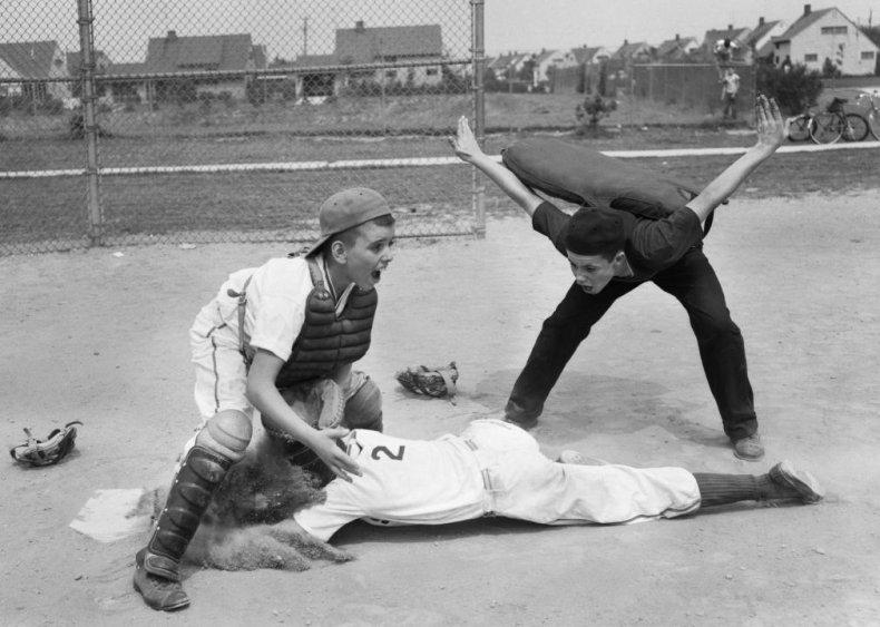 1950: First girl plays Little League baseball