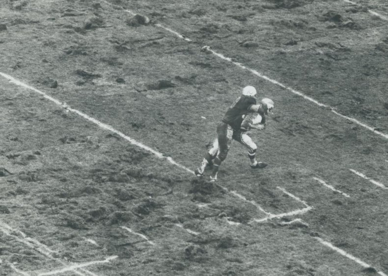 1970: First woman plays American football