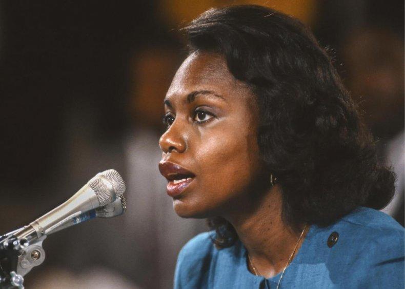 1991: Anita Hill testifies before the Senate