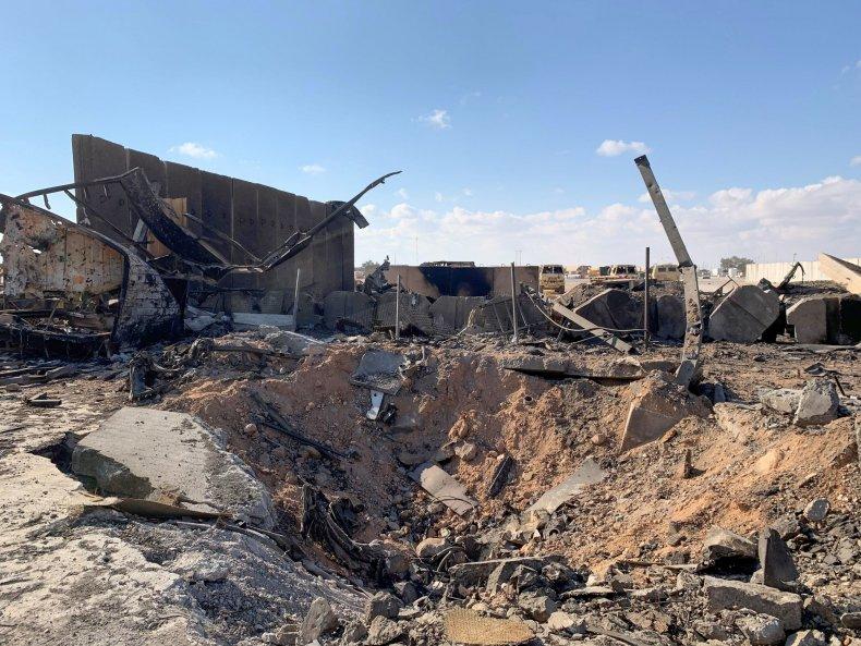 Ain Al Asad damage after Iran strike