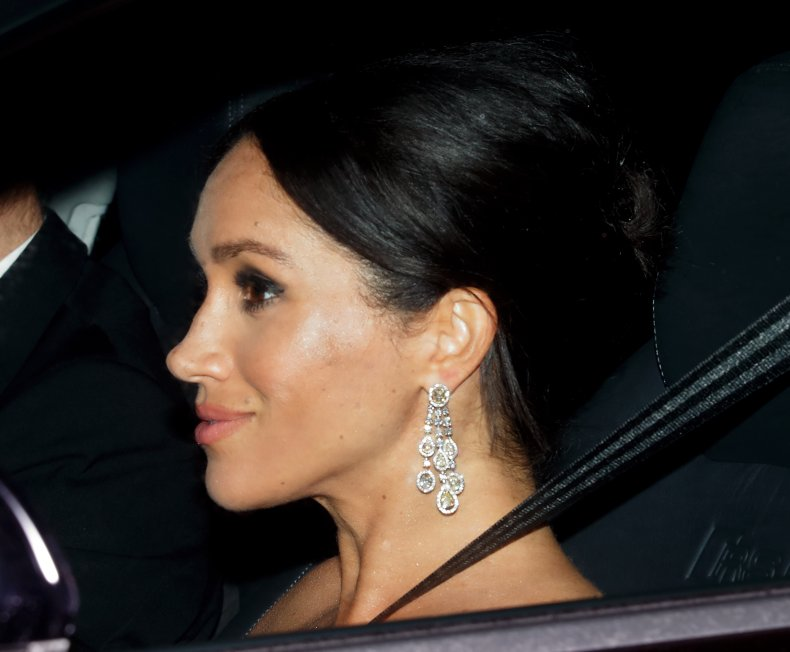 Meghan Markle Wearing Saudi Prince's Earrings
