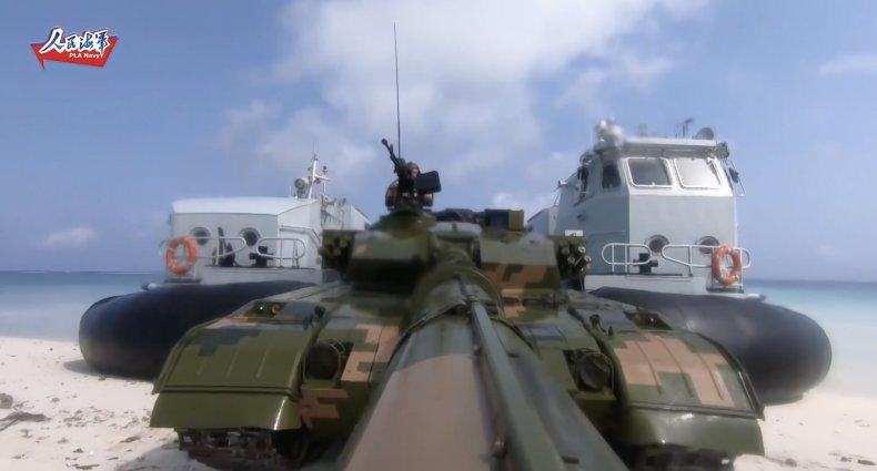china, peoples, liberation, army, island, drill
