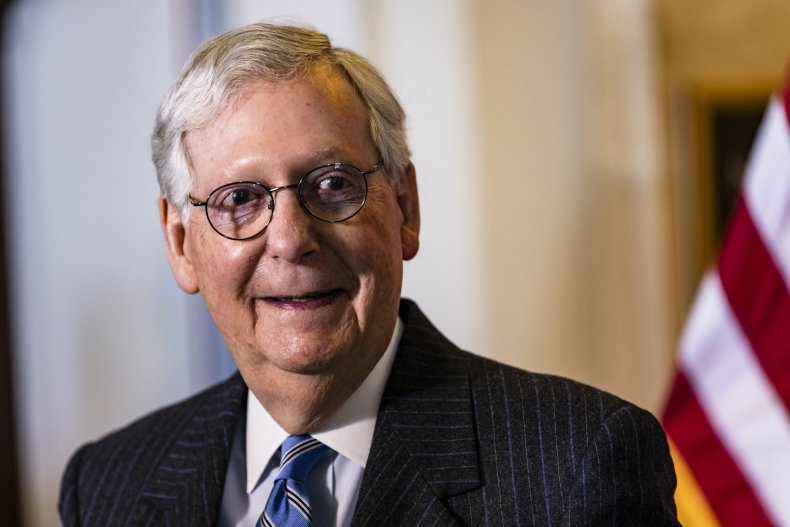Mitch McConnell on Capitol Hill