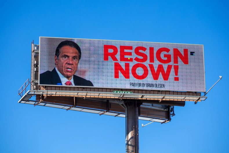 A Billboard Urging Andrew Cuomo to Resign
