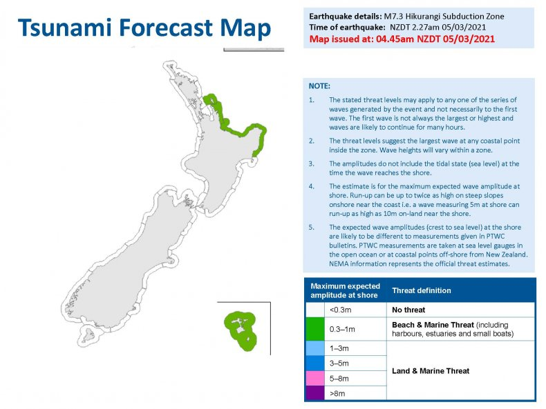 New Zealand Tsunami Forecast