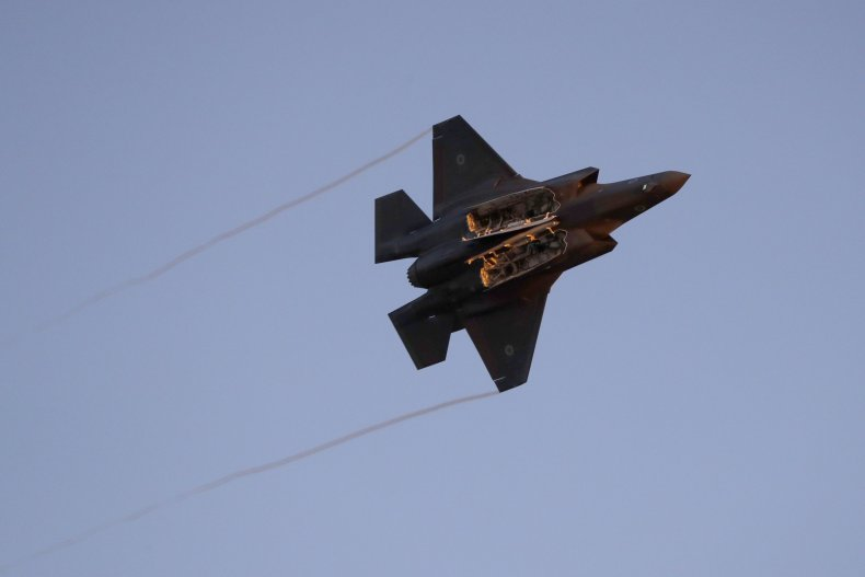 Israeli F-35 pictured over the Negev