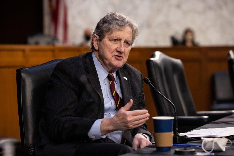 Senator Jon Kennedy speaks at US Capitol