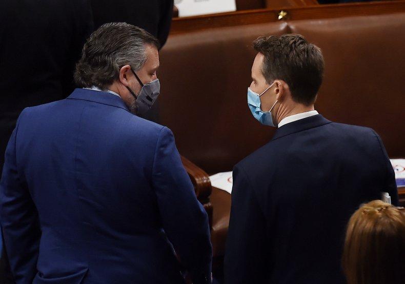 Republican Senators Ted Cruz and Josh Hawley