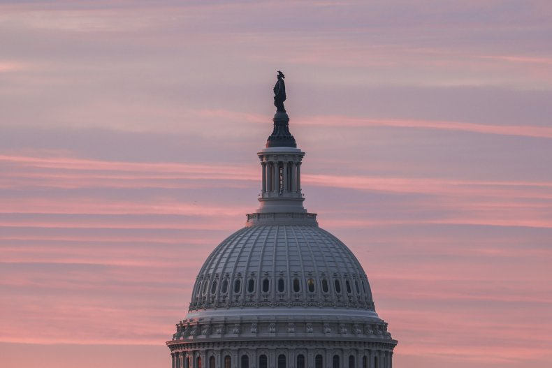 The Sun Rises Over the US Capitol