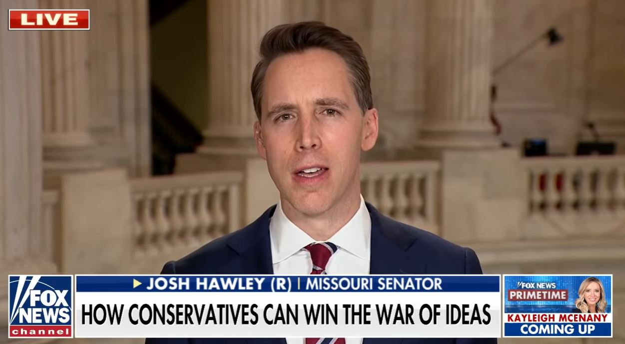 "Josh Hawley says Democrats making American workers ""compete with slave labor"""