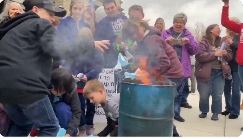 idaho mask burning anti-masker
