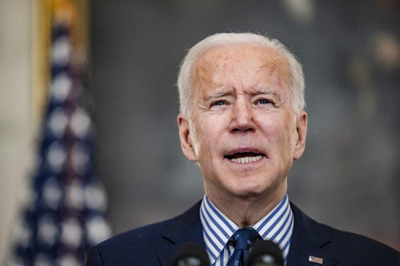 President Joe Biden speaks from the State