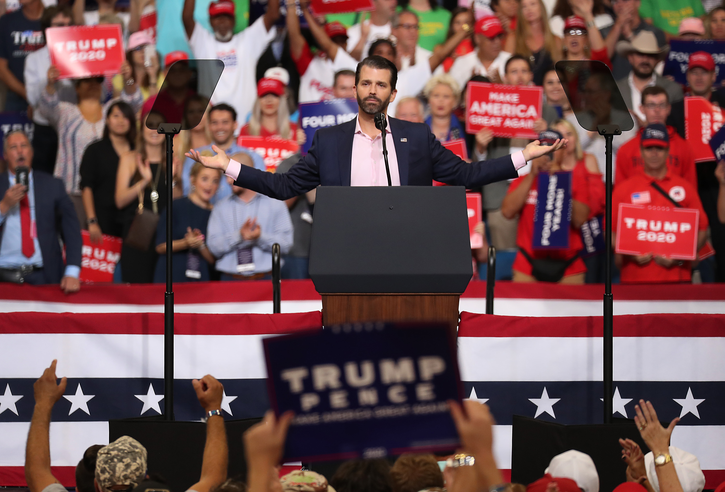Trump Jr. incensed by lack of decency as cheerleaders learn on Twitter they're being fired