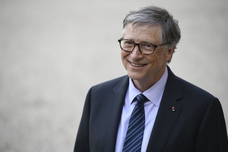 Bill Gates leaves the Elysee presidential palace