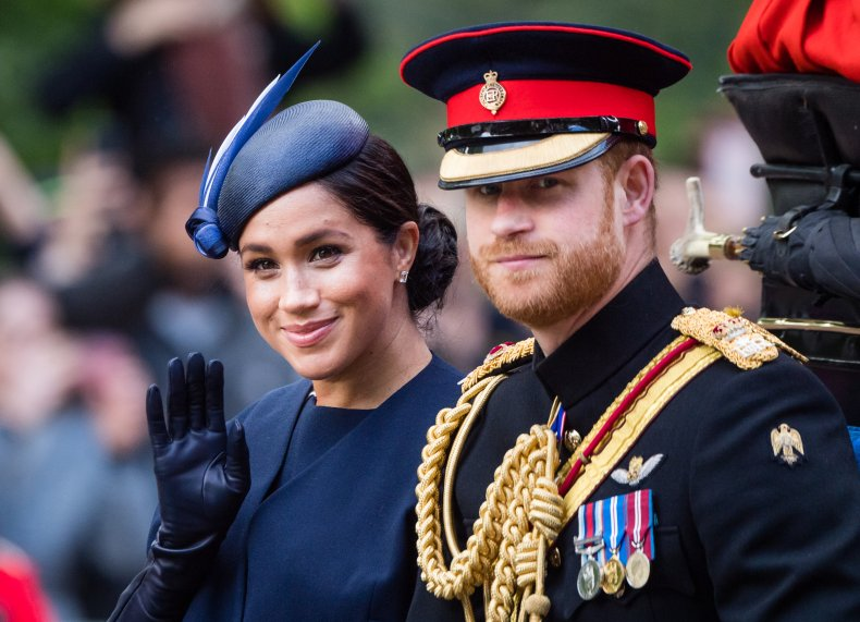 Meghan Markle, Prince Harry Trooping the Color