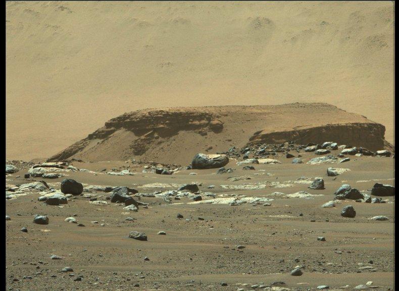 Potential ancient Martian river delta