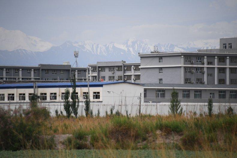 """Uyghur """"re-education"""" camp in Xinjiang"""