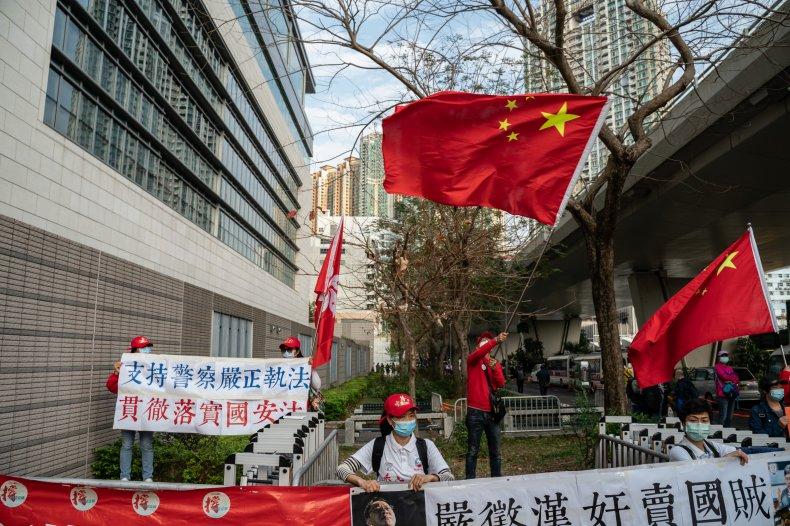 china, flags, hong, kong, court