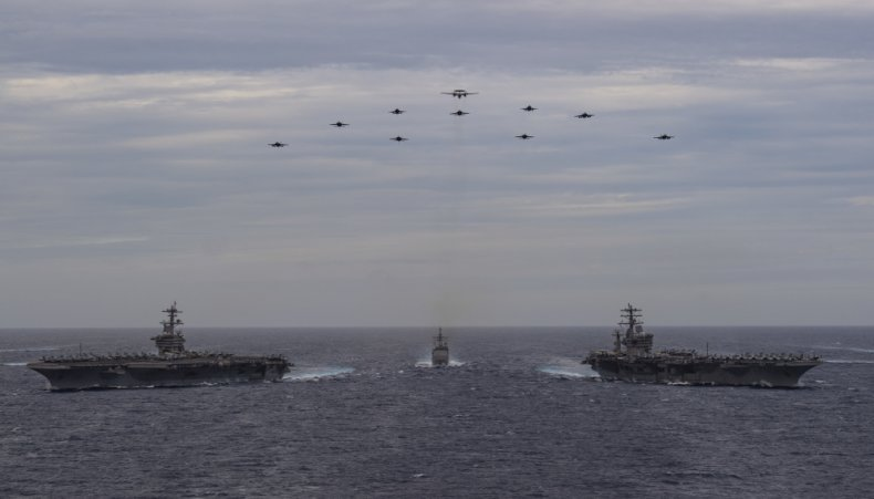 china, us, navy, south, sea, carriers