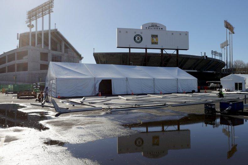 Oakland Coliseum vaccination site
