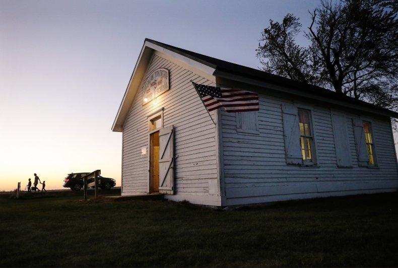 One-room schoolhouse in rural Iowa